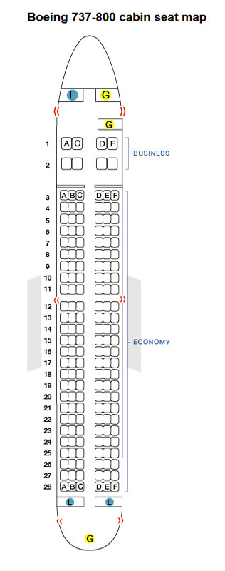 Hong Kong Airlines Boeing 737 Seating Chart